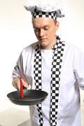 Crazy cook. Stock Photos