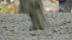 Pouring Concrete - Stock Video - stock footage