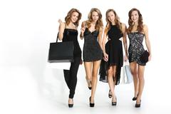 Women shopping in a boutique Stock Photos