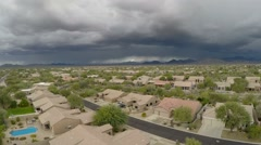 Stock Video Footage of Phoenix Storm Aerial