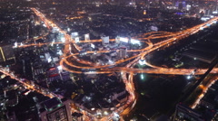 Timelapse of Bangkok city view with main traffic, Thailand Stock Footage