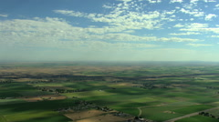 Aerial USA Idaho farming crops vegetation plant field farm - stock footage