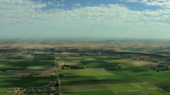 Aerial USA Idaho farm irrigation food land agriculture water - stock footage