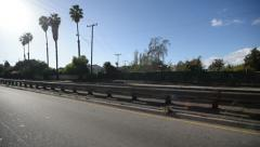 Driving Three Quater Rear 11 Freeway Stock Footage