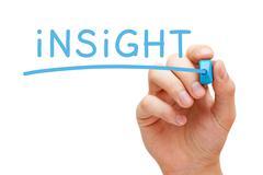 Insight blue marker Stock Illustration