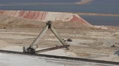 Dead sea factories tracktor 4K Stock Footage