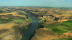 Aerials Idaho USA Twin Falls Shoshone Park River Canyon - stock footage