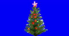Christmas tree isolated loop 01 - stock footage