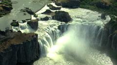 Aerials Idaho USA Twin Falls Shoshone Park Canyon Waterfall Stock Footage