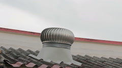 Ventilation pipe on a roof Stock Footage
