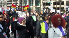 Al Sharpton's massive justice protest for Michael Brown/Eric Garner/Tamir Rice  Stock Footage