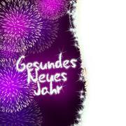Gesundes neues jahr german happy new year Stock Illustration