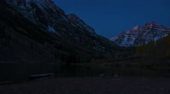 Maroon bells Sunrise 4k timelapse Stock Footage