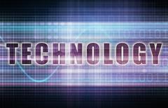 Technology on a tech business chart art Piirros