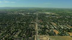 Aerial Idaho USA town community home agriculture farmland - stock footage