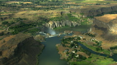Aerials Idaho USA Twin Falls Shoshone Park Snake River nature Stock Footage