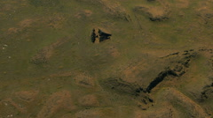 Aerial Idaho USA lava vegetation plant scenic desert Stock Footage