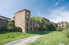 Old barracks. Noteburg. Saint Petersburg Stock Photos