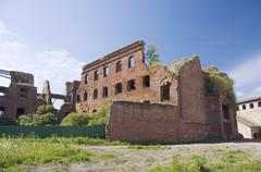 Old barracks in Noteburg fortress - stock photo