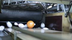 Bowling Ball Strikes all pins Stock Footage
