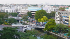 Speed video of bangkok traffic and life of people Stock Footage