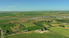 Aerial Idaho Twin Falls Magic valley airport farmland Stock Footage