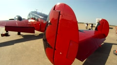 Beech 18 Matt Younkin at Fort Worth Alliance Airshow Slider Right to Left Stock Footage