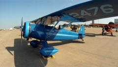Airplane at Forth Worth Texas Alliance Airshow Slider Left to Right Stock Footage