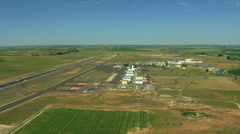 Aerial Idaho Twin Falls Magic valley airport farmland Stock Footage
