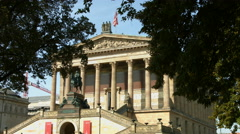 Alte Nationalgalerie (old national gallery) in Berlin Stock Footage
