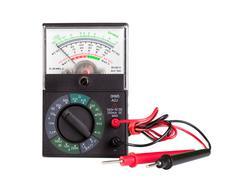 Multimeter with probe - stock photo