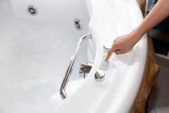 Whirlpool bath - stock photo