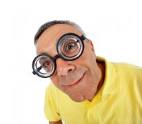 Surprised man with WOW expression. - stock photo