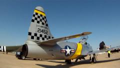 Lockheed T-33 Shooting Star Ace Maker Airshows at Fort Worth Alliance Airshow Stock Footage