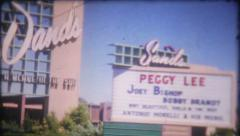 1383 - Sands Hotel Casino in 1950's Las Vegas - vintage film home movie Stock Footage