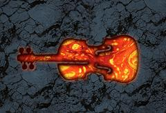 Violin lava stone Stock Illustration
