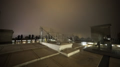 Observation deck on triumphs arch Arc de Triomphe - stock footage