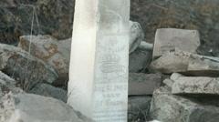Memorial of conrad moschel colorado Stock Footage