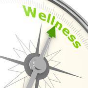 wellness compass - stock illustration