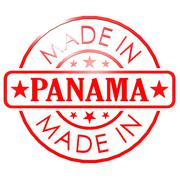made in panama red seal - stock illustration