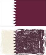 Qatar grunge flag. Vector illustration Piirros