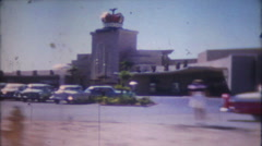 1388 - Royal Nevada Hotel Casino in 1950's Las Vegas - vintage film home movie Stock Footage