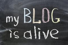 My blog is alive Stock Photos