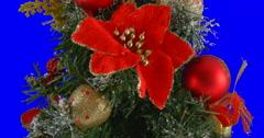 Christmas tree isolated loop 07 - stock footage