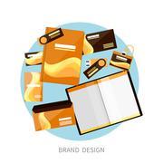 Brand design Stock Illustration
