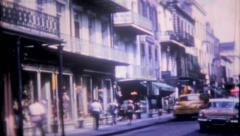 1390 - New Orleans street scene - vintage film home movie Stock Footage