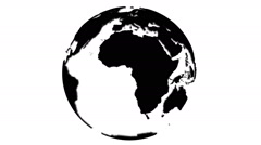 Loopable rotating earth planet globe silhouette Stock Footage
