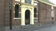 The almhouse where John Robinson lived in Leiden, South Holland, Netherlands. - stock footage
