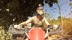 ATV, quad bike Stock Footage