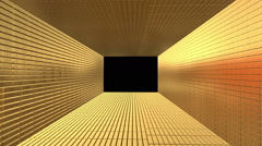 Gold Bars Bricks Tunnel zooming out expanding Stock Footage